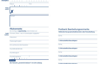 Screenshot Antragsstrecke Postbank Visa Business Card Gold