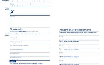 Screenshot Antragsstrecke Postbank Visa Business Card Gold