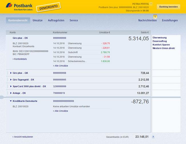 Karte Sperren Postbank.Die Postbank Visa Business Card Gold Im Test