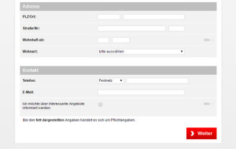 Antragsprozess Santander 1plus Visa Card