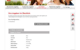 Screenshot Kartenantrag Santander Vario Card