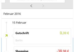 Screenshot Mobilbanking Santander MasterCard