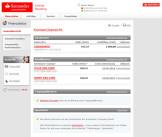 Screenshot OnlineBanking Santander TravelCard