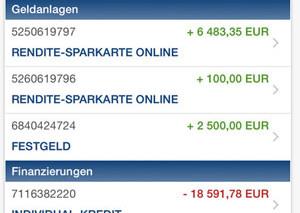 Screenshot Mobilbanking TARGOBANK