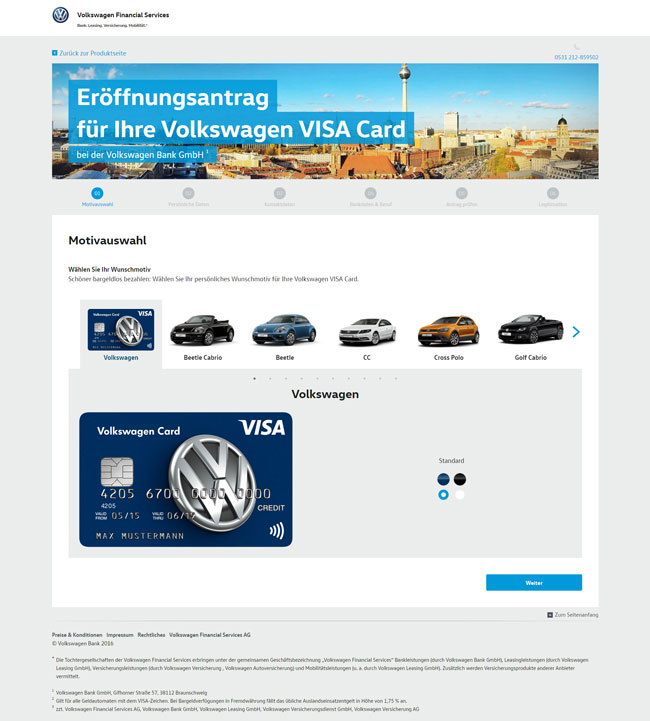 Volkswagen Bank Visa Kreditkarte