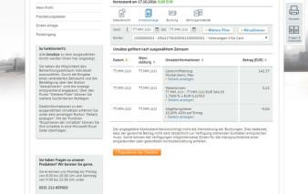 Onlinebanking Volkswagen Bank Visa Card