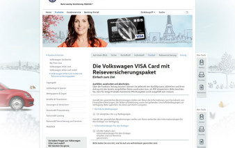 Screenshot Antragsstrecke VW Bank Card mobil mit RV