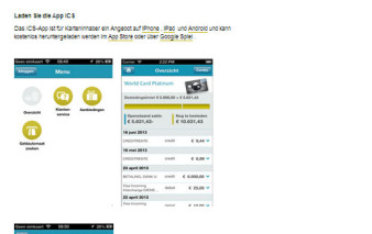 Screenshot ICS OnlineBanking, APP