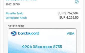Screenshot App BarclayCard