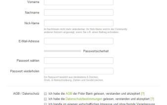 Screenshot Beantragung Fidor Prepaid MasterCard
