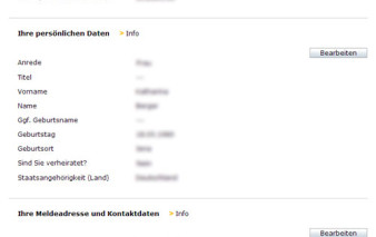 Screenshots Kreditkartenantrag comdirect bank