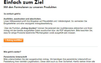 screenshot antragsstrecke vw bank visa card pur 2