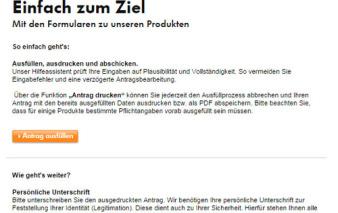 screenshot antragsstrecke vw bank visa card pur 2