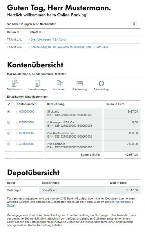 volkswagen bank visa card pur im test. Black Bedroom Furniture Sets. Home Design Ideas