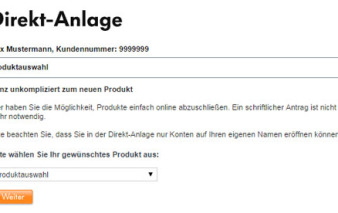 screenshot direkt antrag vw bank visa card pur