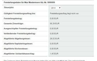 screenshot freistellungsdaten vw bank visa card pur