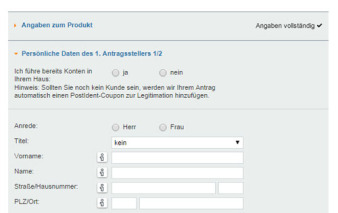 screenshot persoenliche daten vw bank visa card pur 2a