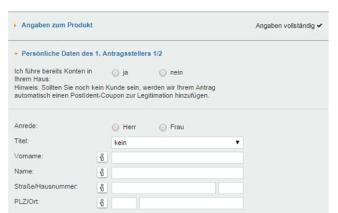 screenshot persoenliche daten vw bank visa card pur 2a