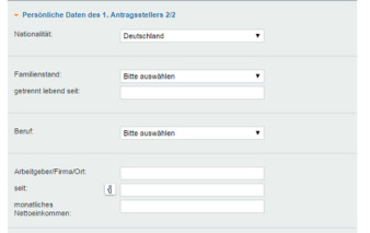 screenshot persoenliche daten vw bank visa card pur 3