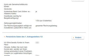 screenshot zusammenfassung vw bank visa card pur 1