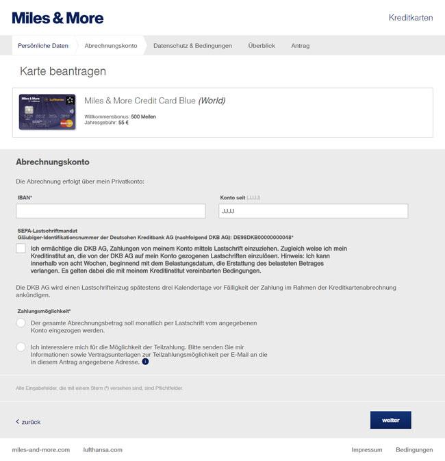 miles more credit card blue world im test. Black Bedroom Furniture Sets. Home Design Ideas