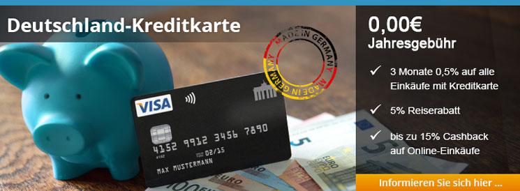 Die Deutschland-Kreditkarte mit attraktivem Cashback
