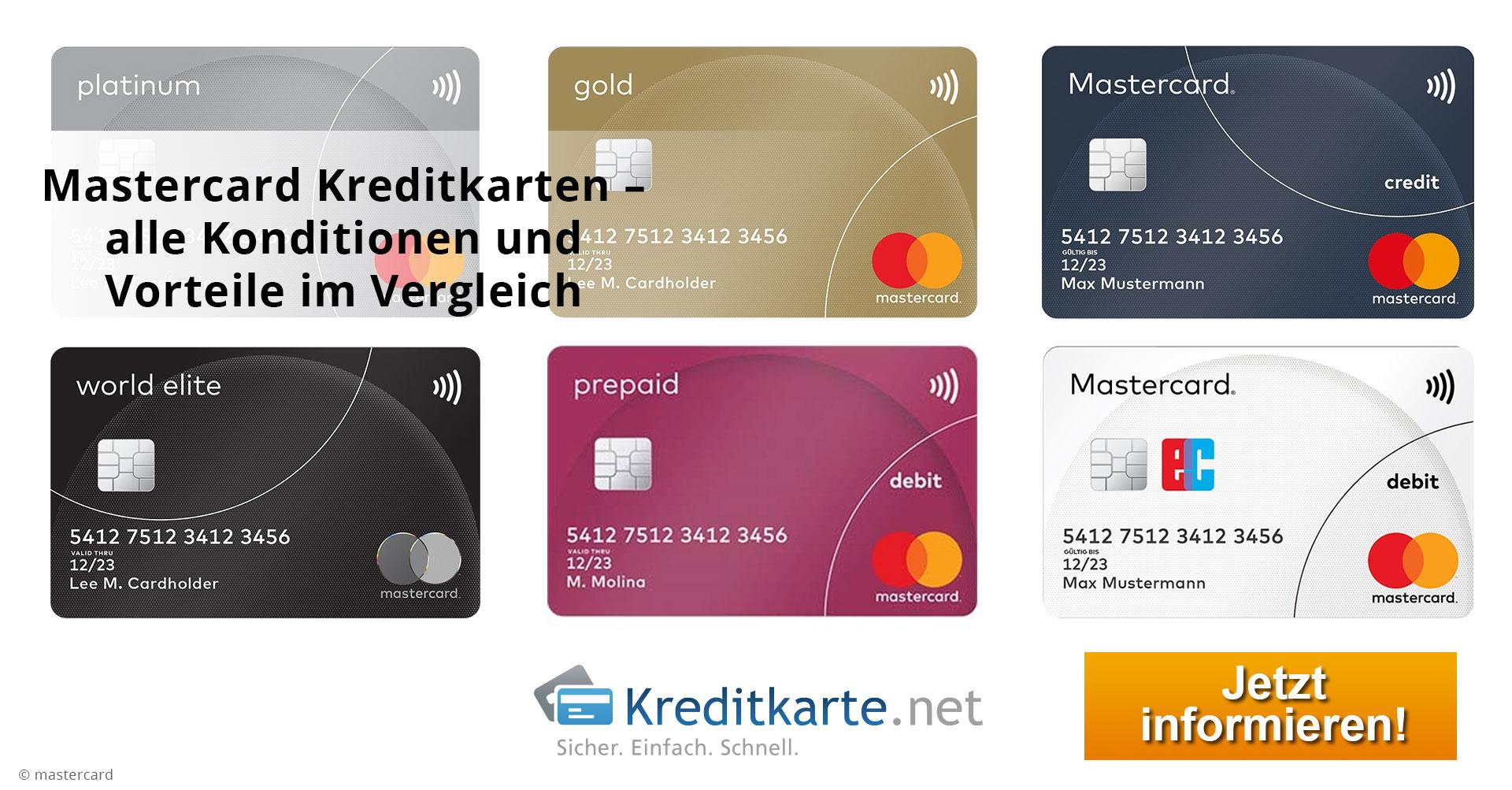 MasterCard-Kreditkarten im Vergleich - die beste MasterCard finden