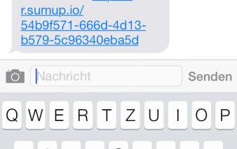 sumup beleg sms