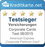 AMEX Corporate Platinum Card Versicherung Kategoriesieger