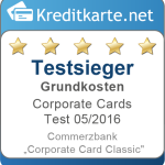 Testsieger Grundkosten Commerzbank Corporate Card Classic