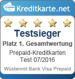 Testsieger Gesamtbewertung Wuestenrot Bank