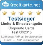 Kategorie Testsiegel AirPlus Supreme