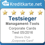 Kategorietestsieger Management-Tools Diners Club Corporate Card