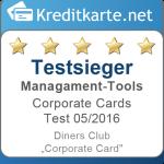 Kategorietestsieger Management-Tools Diners Club Corporate Card