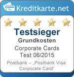 Testsieger Grundkosten Postbank Visa Corporate Card
