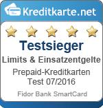 Testsieger Limits & Einsatzentgelte Fidor