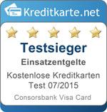 Testsiegel Kategoriesieger Einsatzentgelte Consorsbank