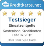 Testsiegel Kategoriesieger Einsatzentgelte DKB