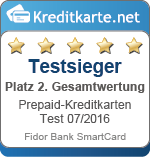 Testsieger 2. Platz Gesamtbewertung Fidor Bank
