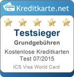 Testsieger Grundgebuehren ICS Visa Card