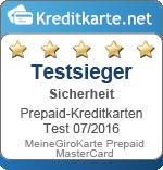 Testsieger Sicherheit MeineGiroKarte Prepaid