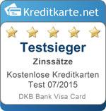 Testsiegel Kategoriesieger Zinssätze DKB