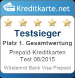 Gesamtsieger Prepaid-Kreditkarten Test 2015 Wuestenrot