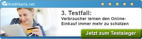 Testfall Prepaid-Kreditkarte-Banner Online-Einkaufen