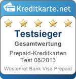 Testsieger Prepaid-Kreditkarten 08/2013