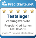 Testsieger Zahlungsverkehr Prepaid-Kreditkarten 08/2013