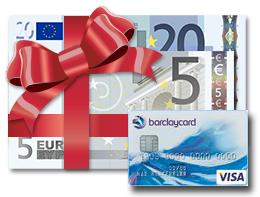 Die Barclaycard New Visa mit 25,-Euro Startguthaben