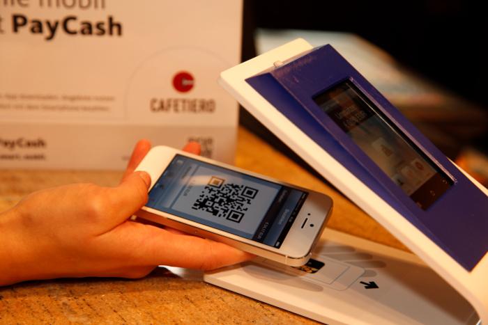 PayCash mit QR-Code
