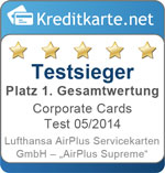 Sieger im Corporate Cards Test 2014