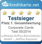 Sieger im Corporate Cards Test 2014